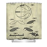 Basketball Patent 1916 Faded Grunge Shower Curtain