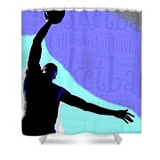 Basketball Poster Shower Curtain
