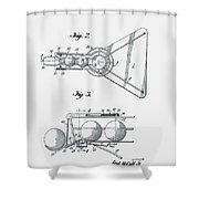 Basketball Practice Device Patent 1960 Part 2 Shower Curtain