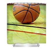 Basketball Reflections Shower Curtain