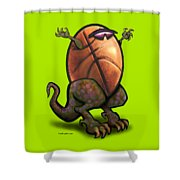 Basketball Saurus Rex Shower Curtain