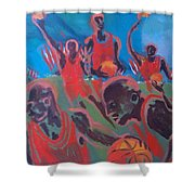 Basketball Soul Shower Curtain