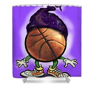 Basketball Wizard Shower Curtain