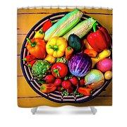 Basketful Of Fresh Vegetables Shower Curtain