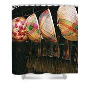 Baskets And Brooms Shower Curtain