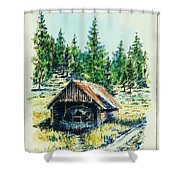 Basque Oven - Russell Valley Shower Curtain