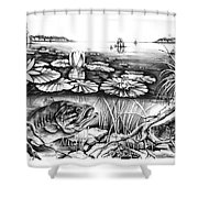 Bass And Crappie Shower Curtain