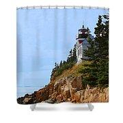 Bass Harbor Light House Shower Curtain