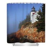 Bass Harbor Lighthouse, Acadia National Park Shower Curtain