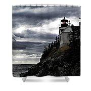 Bass Harbor Lighthouse In Acadia Np Shower Curtain