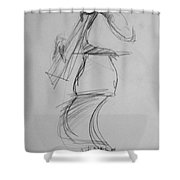 Bass Man Shower Curtain