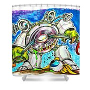 Bass Monster Shower Curtain