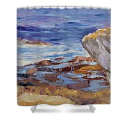 Bass Rocks Shower Curtain