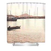 Basseterre Harbour Shower Curtain