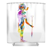 Bastet- God Of Ancient Egypt Shower Curtain
