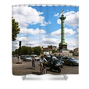 Bastille Shower Curtain by Milan Mirkovic