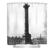 Bastille Monument In Paris Shower Curtain