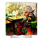 Bastion Shower Curtain