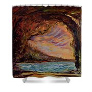 Bat Cave St. Philip Barbados  Shower Curtain