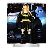 Bat Gal In The City Shower Curtain