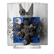 Bat Shower Curtain by Jen Hardwick