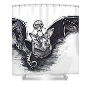 Bat Mobile Shower Curtain