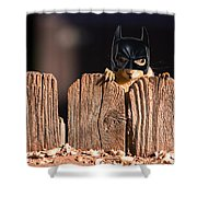 Bat Squirrel  The Cape Crusader Known For Putting Away Nuts.  Shower Curtain