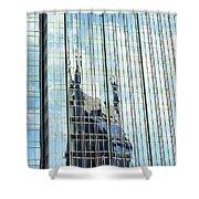 Bat Tower Reflected Shower Curtain