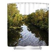 Batavia, Ohio Creek Vertical Shower Curtain