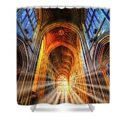 Bath Abbey Sun Rays Shower Curtain