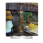 Bath Covered Bridge In Autumn Shower Curtain