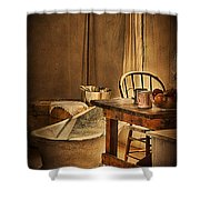 Bath Night At Fort Verde Shower Curtain