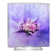 Bathed In Purple Shower Curtain
