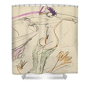 Bather Shower Curtain