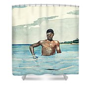 Bather Shower Curtain