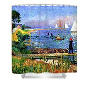 Bathers At Bellport Shower Curtain