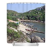 Bathers At Cales Coves Shower Curtain
