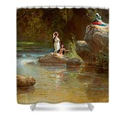 Bathers At The River. Evening In Orinoco? Shower Curtain