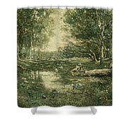 Bathers. Woodland Shower Curtain