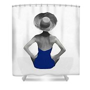 Bathing Beauties Usa Red White Blue Shower Curtain