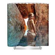 Bathing Maiden Shower Curtain