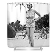 Bathing Suit Made Of Currency Shower Curtain