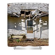 Bathing With A View Shower Curtain