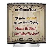 Bathroom Rule Shower Curtain