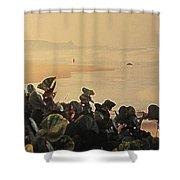 Bathsheba Beach Walk Shower Curtain