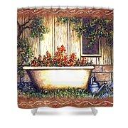 Bathtub Garden Shower Curtain