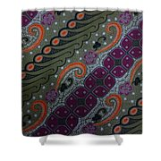 Batik Art Pattern Shower Curtain