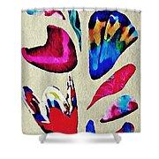 Batik Bouquet Shower Curtain
