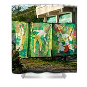 Batik Studio At Coba Village Shower Curtain