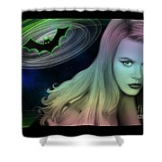 Batman And Nicole #0070 Shower Curtain